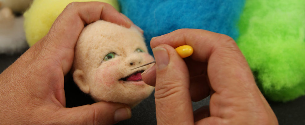 yellow-felting-needle-face